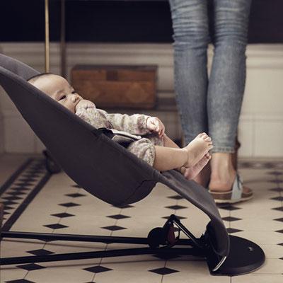 Transat bébé balance soft bleu brouillard Babybjorn