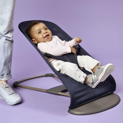 Transat bébé bliss maille bleu marine Babybjorn
