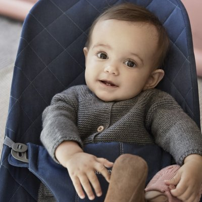 Transat bébé bliss coton bleu nuit Babybjorn