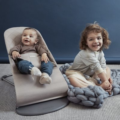 Transat bébé bliss cotton gris sable Babybjorn