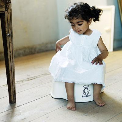Fauteuil pot bébé blanc neige Babybjorn