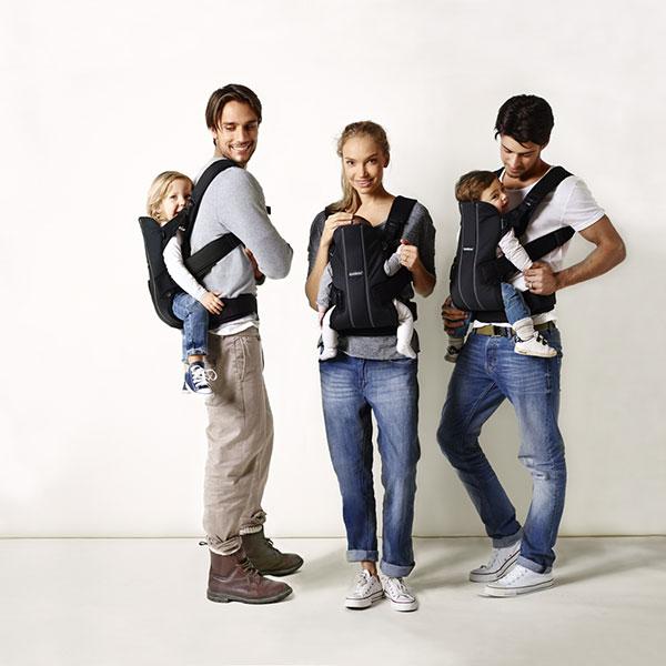 Porte bébé ventral / kangourou we coton noir Babybjorn