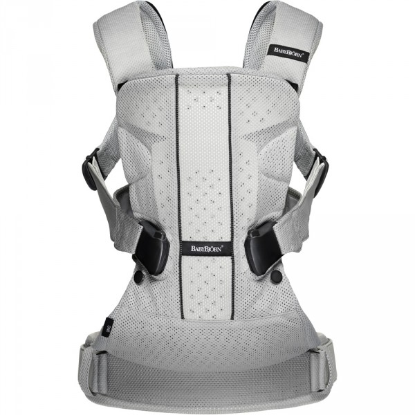 Porte bébé one air maille filet 3d argent Babybjorn