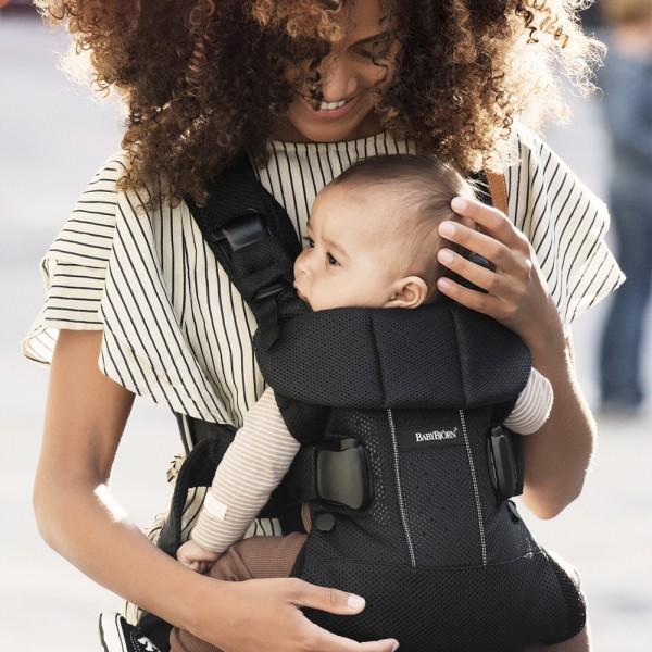 Porte bébé one air maille filet 3d noir Babybjorn
