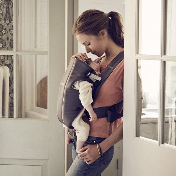Porte bébé original gris foncé et gris Babybjorn