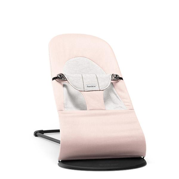 Transat bébé balance soft rose et gris Babybjorn