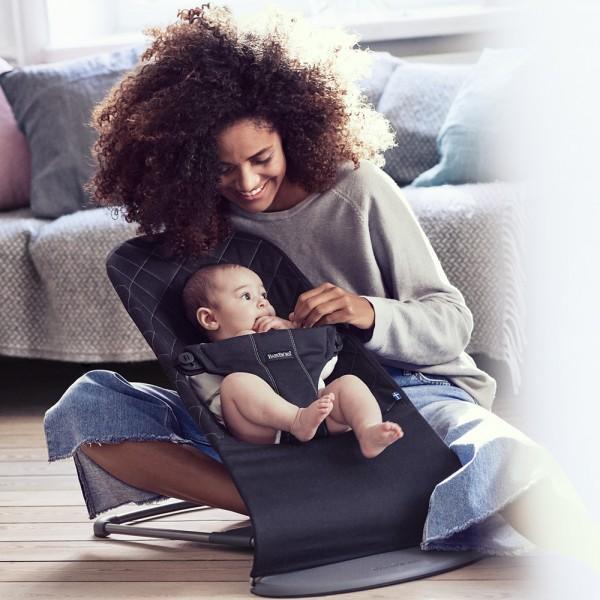 Transat bébé bliss cotton noir Babybjorn