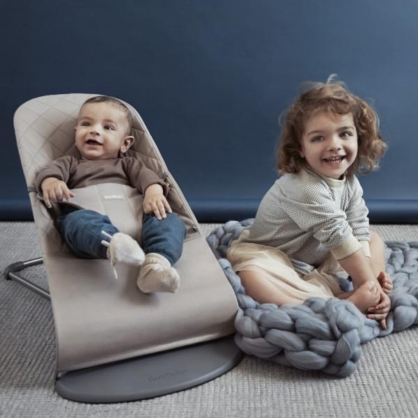 Transat bébé bliss cotton gris sable Babybjorn