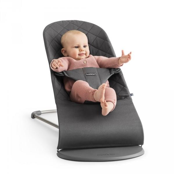 Transat bébé bliss cotton anthracite Babybjorn