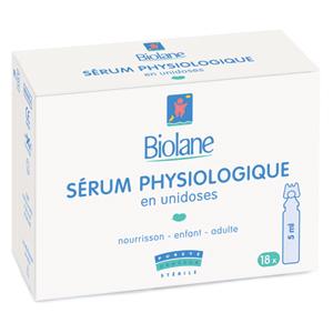 Etui 18 serum physiologique unidoses 5 ml