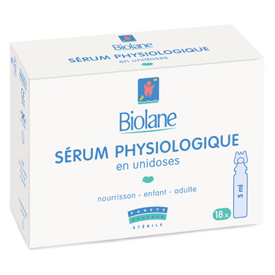 Etui 18 serum physiologique unidoses 5 ml Biolane