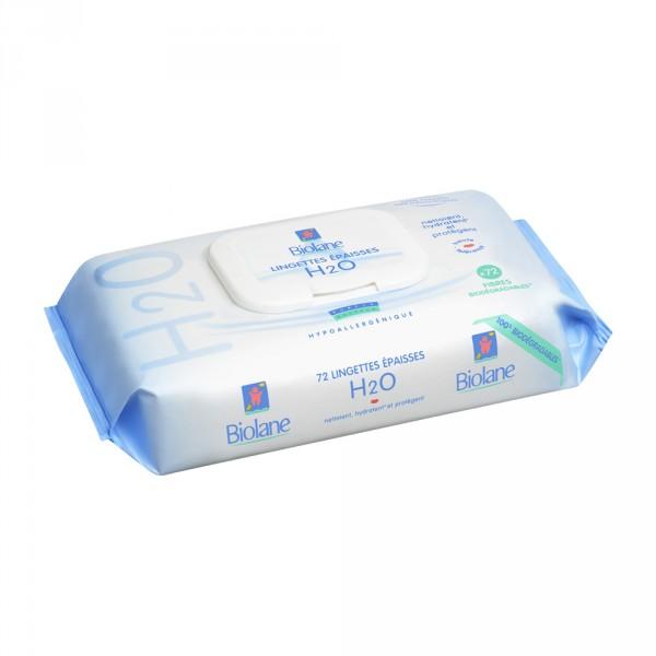 Boîtier 72 lingettes epaisses h2o Biolane