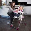 Chaise haute bébé slim prune Babymoov