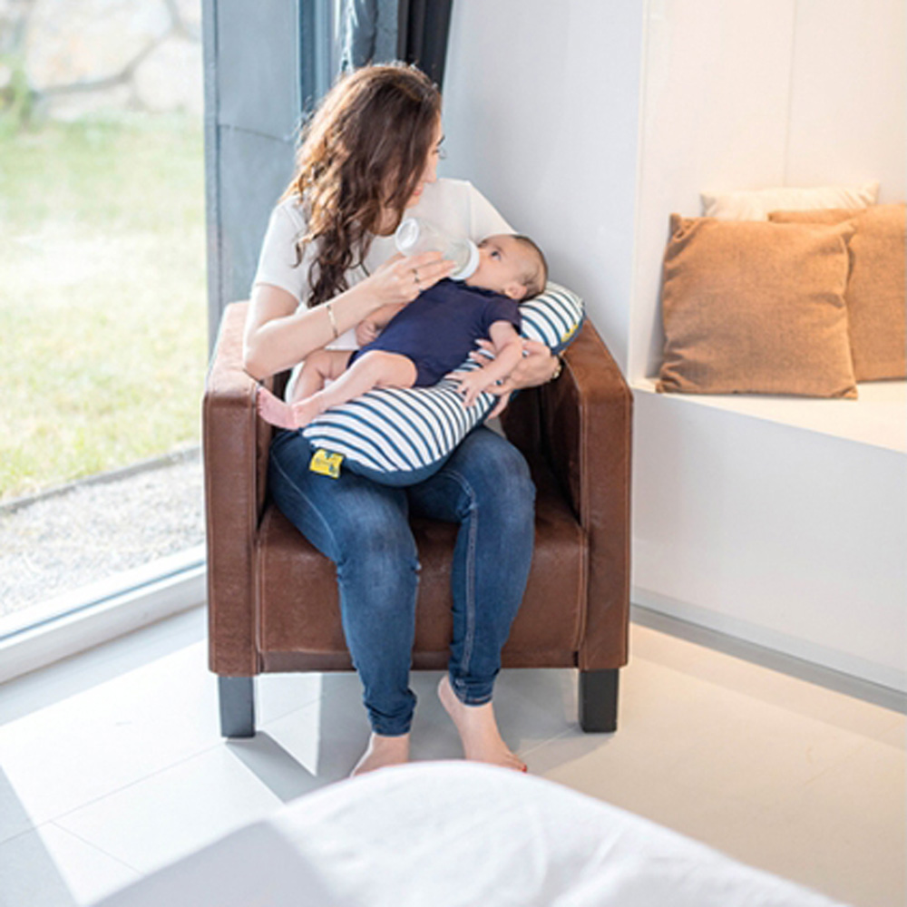 housse pour coussin d 39 allaitement mum b navy de babymoov. Black Bedroom Furniture Sets. Home Design Ideas