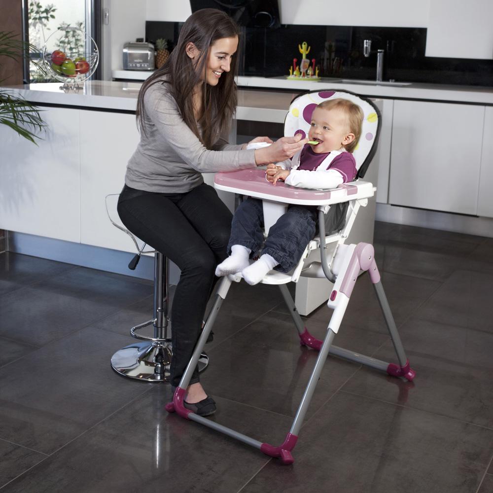 chaise haute r glable slim prune de babymoov chez naturab b. Black Bedroom Furniture Sets. Home Design Ideas