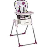 Chaise haute bébé slim prune pas cher