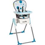 Chaise haute bébé slim turquoise pas cher
