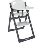 Chaise haute bébé light wood zinc/aluminium pas cher