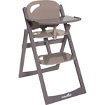 Chaise haute bébé light wood taupe/fusain pas cher