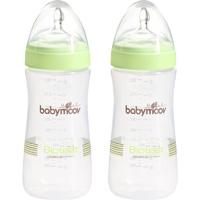 Lot de 2 biberons sans bpa bioteet vert amande 330ml