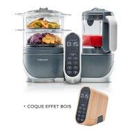 Robot de cuisine nutribaby+ industrial grey + coque effet bois
