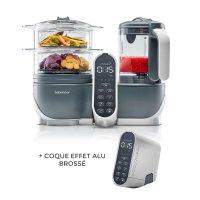 Robot de cuisine nutribaby+ industrial grey + coque effet alu brossé