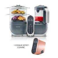 Robot de cuisine nutribaby+ industrial grey + coque effet cuivré