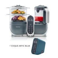Robot de cuisine nutribaby+ industrial grey + coque artic blue