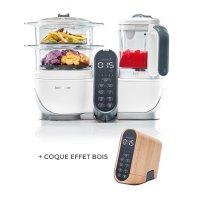 Robot de cuisine nutribaby+ loft white + coque effet bois