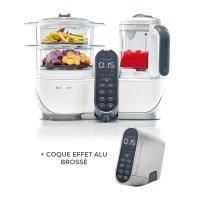 Robot de cuisine nutribaby+ loft white + coque effet alu brossé