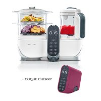 Robot de cuisine nutribaby+ loft white + coque cherry