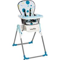 Chaise haute bébé slim turquoise