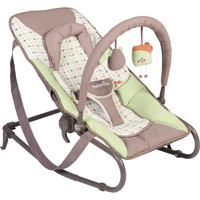 Transat simple bébé bubble vert amande/taupe