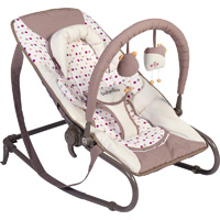 Transat simple bébé bubble ivoire/taupe