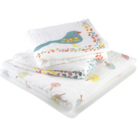 Lot de 3 langes bébé 4 seasons