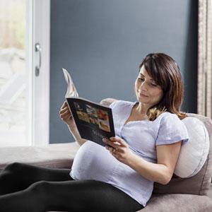 Babymoov Coussin d'allaitement et de maternité mum & b soft white