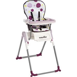 Chaise haute bébé slim prune