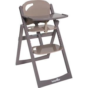 Chaise haute bébé light wood taupe/fusain