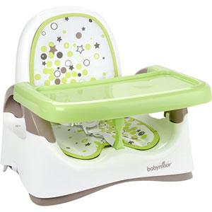 Réhausseur bébé compact taupe/vert amande