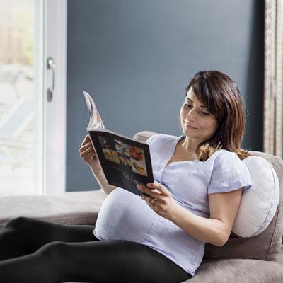 Coussin d'allaitement et de maternité mum & b soft white Babymoov
