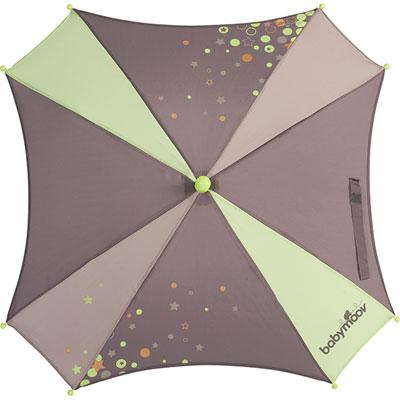 Ombrelle poussette fusain/vert amande Babymoov