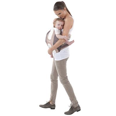Porte bébé physiologique taupe amande Babymoov