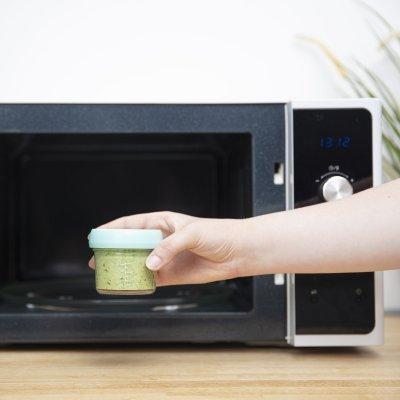 Lot de babybols en verre 4x240ml et 4x1220ml + petit livret de recette bio Babymoov