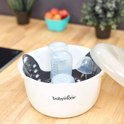 Stérilisateur biberon micro ondes cream Babymoov