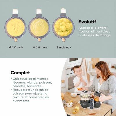Robot de cuisine nutribaby+ industrial grey Babymoov