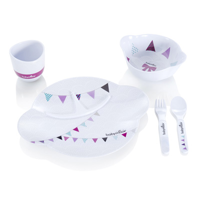 Coffret repas party lunch set girl Babymoov