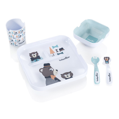 Coffret repas lovely lunch set bear Babymoov