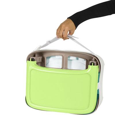 Rehausseur compact bébé taupe/vert amande Babymoov