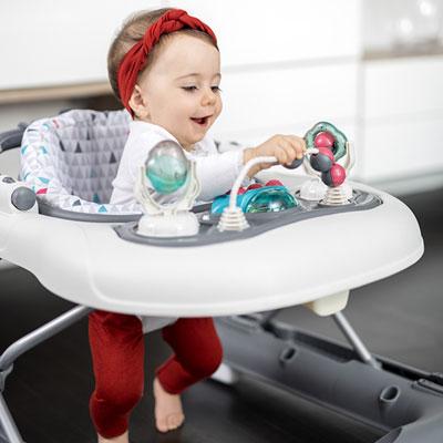 Trotteur bébé 2 en 1 zinc Babymoov
