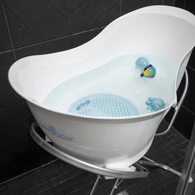 Pied de baignoire bébé et tube de vidange pour aquanest Babymoov